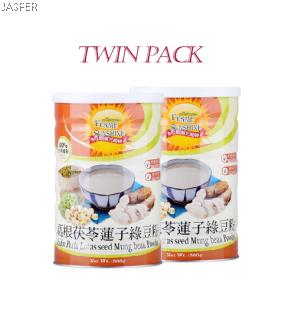Jasper Product Kudoz Poria Lotus Seed Mung Bean Powder Twin Pack